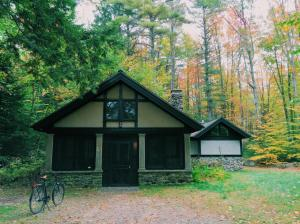 Wooden cottage at The MacDowell Colony