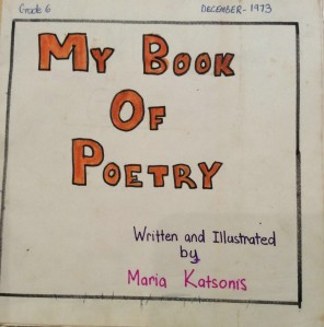 Childhood poetry book of Maria Katsonis