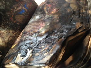 Artist Saba Hasan Work - Burnt Book