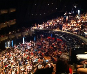 Crowd for Elizabeth Gilbert's talk on How to Be Creative at All About Women