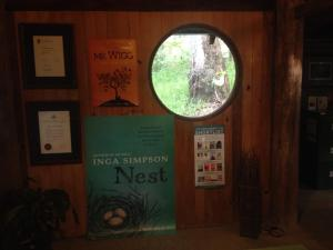 Inga's round window and book covers for Mr. Wigg and Nest