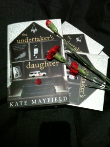 Writer Kate Mayfield Book Cover - The Undertaker's Daughter (UK paperback version)