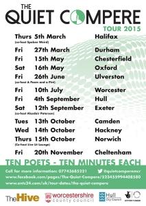 The Quiet Compere 2015 Tour Schedule
