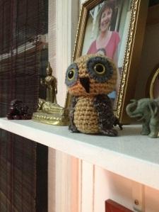 Owl that Angela crocheted