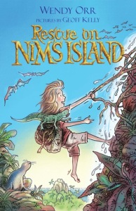 Writer Wendy Orr Book Cover - Rescue on Nim's Island