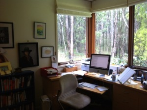 Writer Wendy Orr's desk and computer