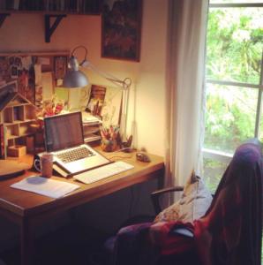 Eliza Henry-Jones's desk and computer