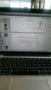 Jacinta V. White's computer showing work on Snapdragon Journal