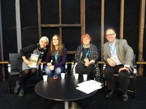 SWF 2015 Sat YA panel with Margo Lanagan, Laurie Halse Anderson, Sally Gardner & Garth Nix