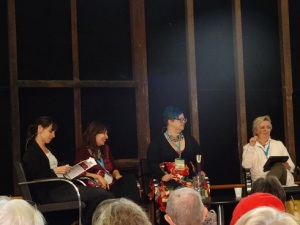 Marie Le Moel, Lee Kofman, Krissy Kneen & Jane Caro at SWF 2015 Thurs