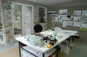 Felicity's stunning new art studio