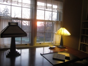 Jacquelyn's desk at the Ragdale Foundation in Lake Forest, Illinois, where she is a Distinguished Fellow.