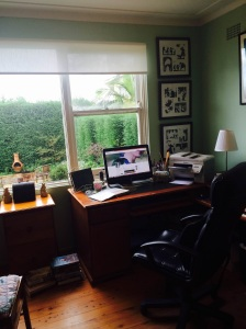 Kate's study with desk and computer in front of large window