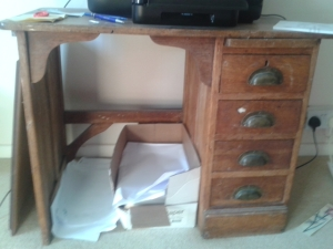 Kate's childhood desk