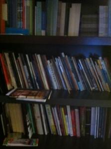 Kristina's project bookshelf