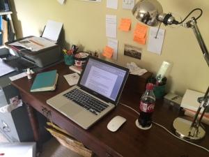 Sarah's workspace