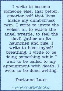 Why I Write by Dorianne Laux