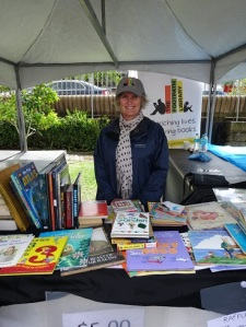 Sarah Garnett from The Footpath Library at Writers in the Park 2015 - edited by Nicole Melanson
