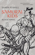 Writer Sandy Fussell Book Cover - Black Tengu from Samurai Kids