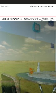 Poet Sheri Benning Book Cover - The Season's Vagrant Light