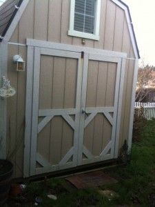 The outside of Kelli's writing shed