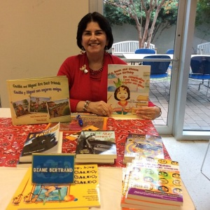 Diane Gonzales Bertrand with books