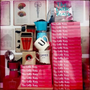 Copies of Philippa Moore's book, The Latte Years