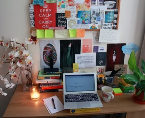 Philippa Moore's workspace