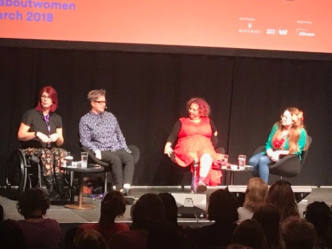 All About Women 2018 - Disability and Intersectionality panel - Samantha Morton, Katharine Annear, Kath Duncan and Van Badham