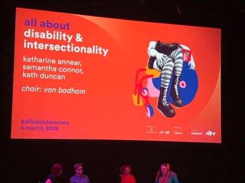 All About Women 2018 - Disability and Intersectionality sign