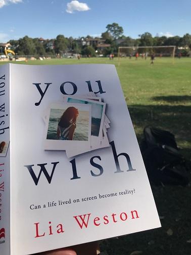 Reading Lia Weston's You Wish outside