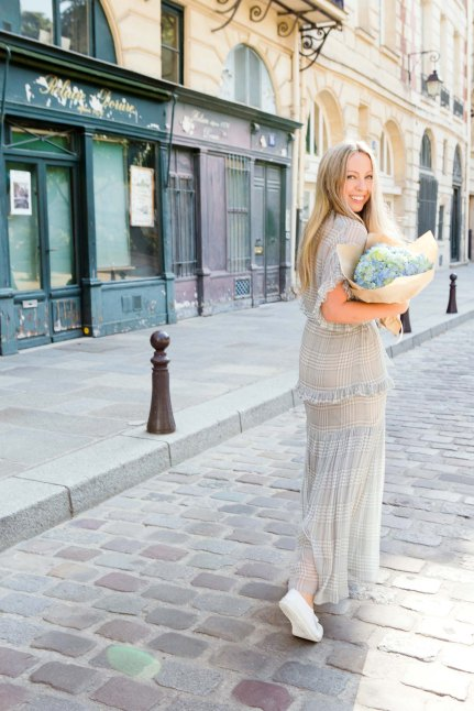 Katrina Lawrence on streets of Paris