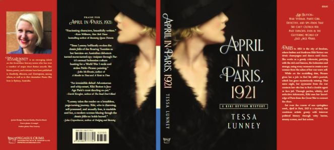 Writer Tessa Lunney Book Cover - April in Paris, 1921 - US version