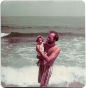Nicole Melanson and father at Salisbury Beach